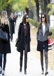 Freida Pinto Street Style - Madrid Spain - November 2013