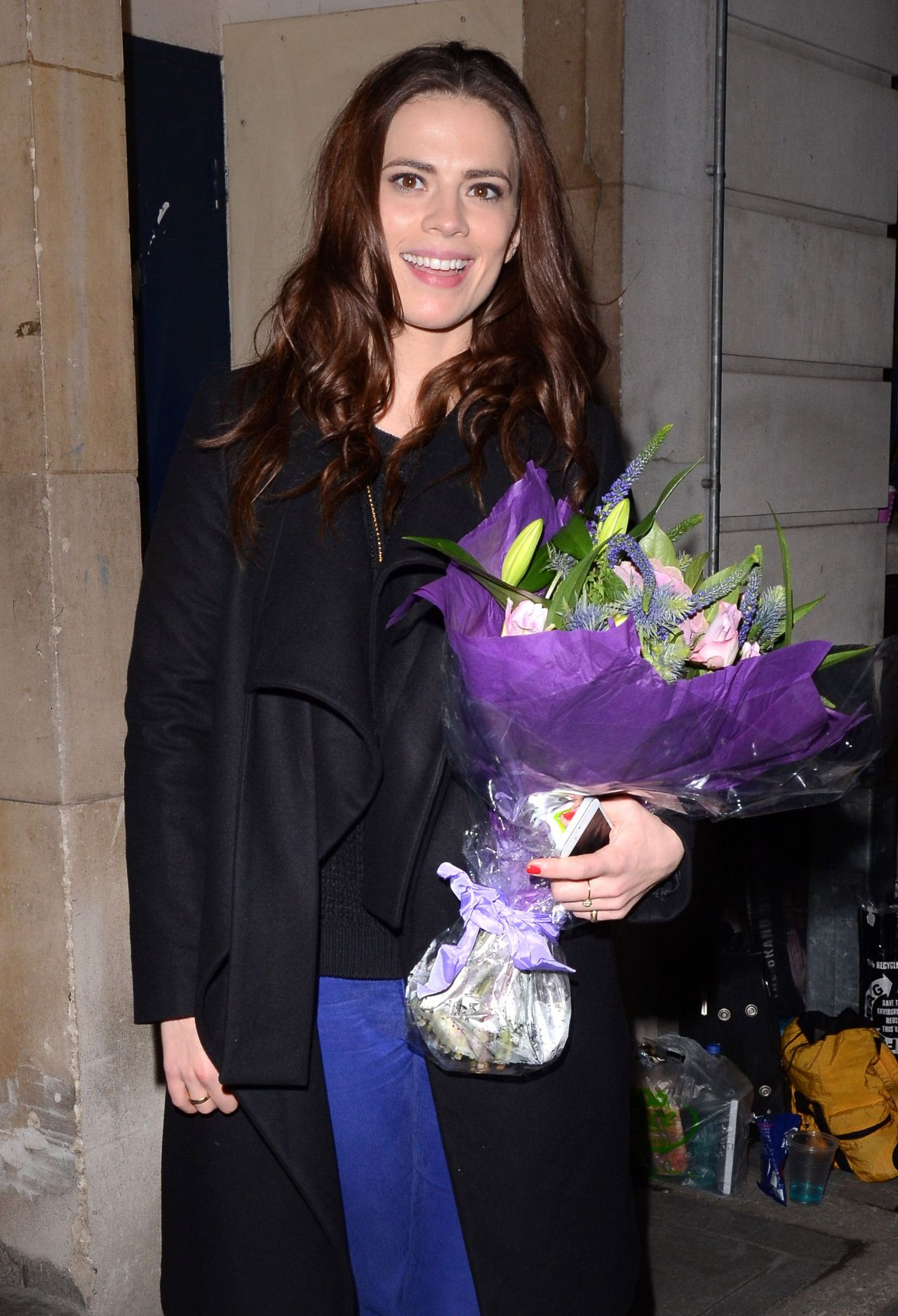 Hayley Atwell Street Style - Trafalgar Studios - November 2013