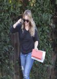 Hilary Duff Street Style - in Jeans Out in Studio City - November 2013