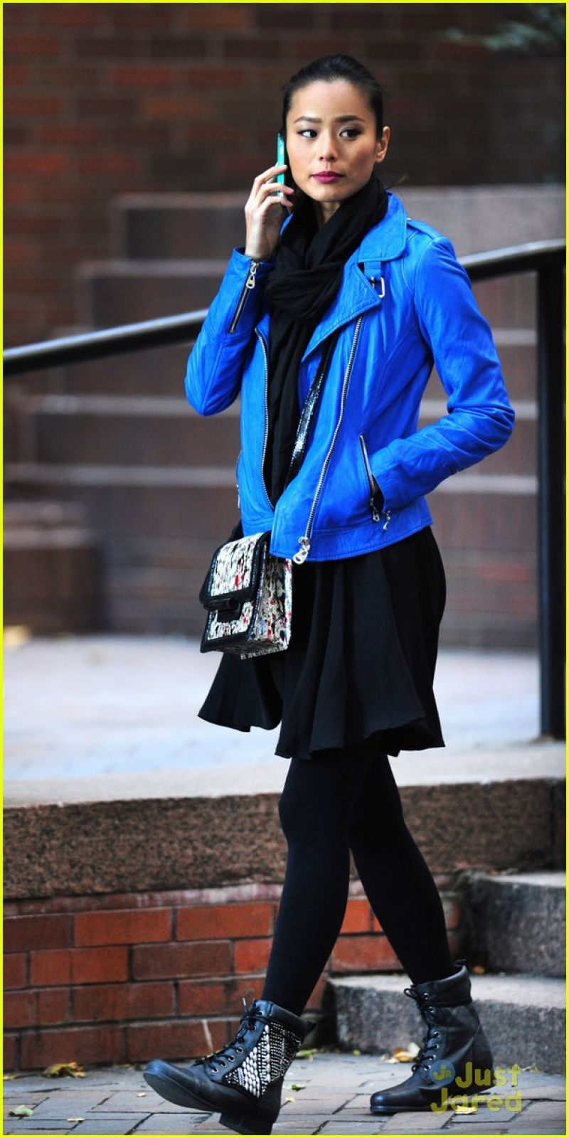 Chung Street Style - Candy in a Blue Jacket Out in New York City ...