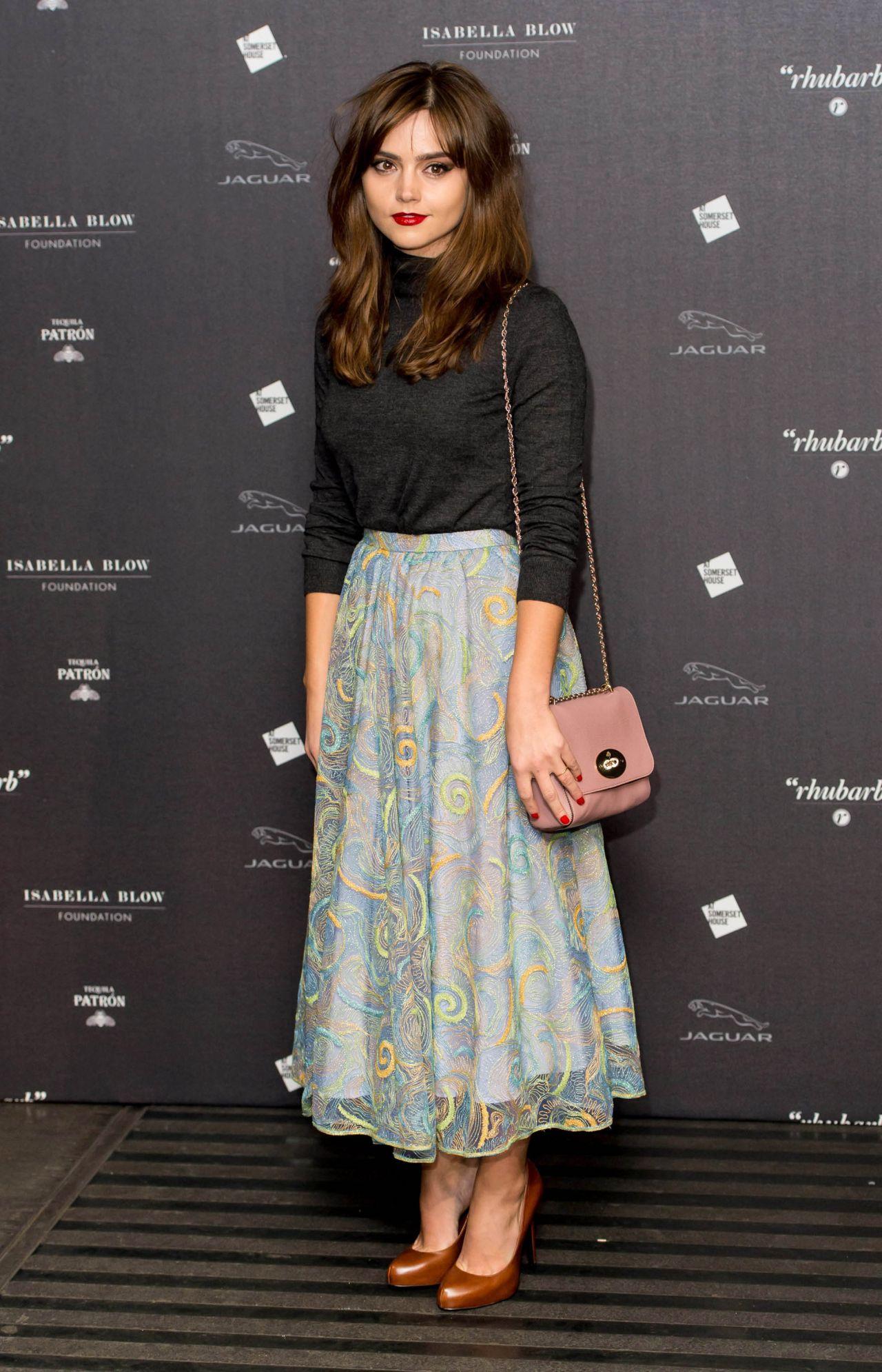 Jenna Louise Coleman Attends Isabella Blow Fashion Galore