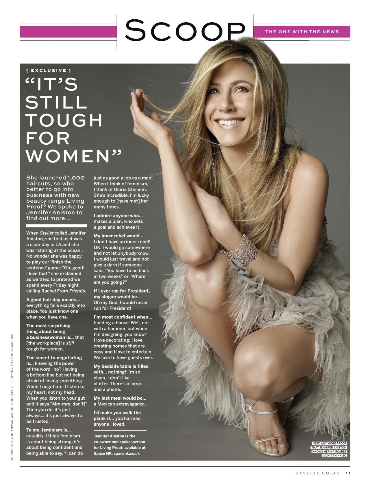 Jennifer Aniston - STYLIST Magazine - November 2013 Issue