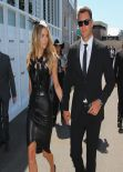 Jennifer Hawkins Attends Victoria Derby Day in Melbourne