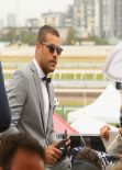 Jesinta Campbell at Emirates marquee Oaks Day in Melbourne