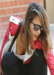 Jessica Alba Street Style - at a Park in Los Angeles