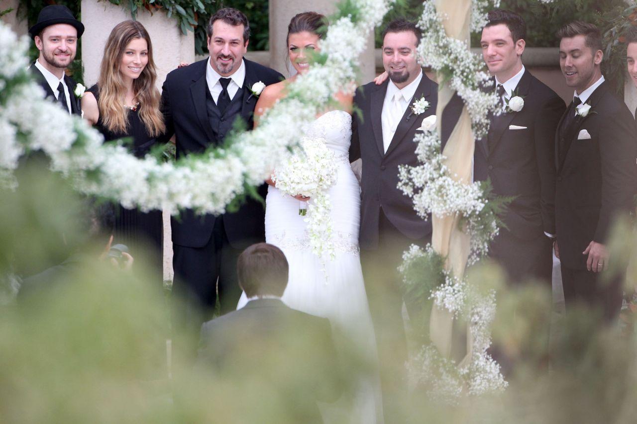 Jessica Biel And Justin Timberlake At Chris Kirkpatrick