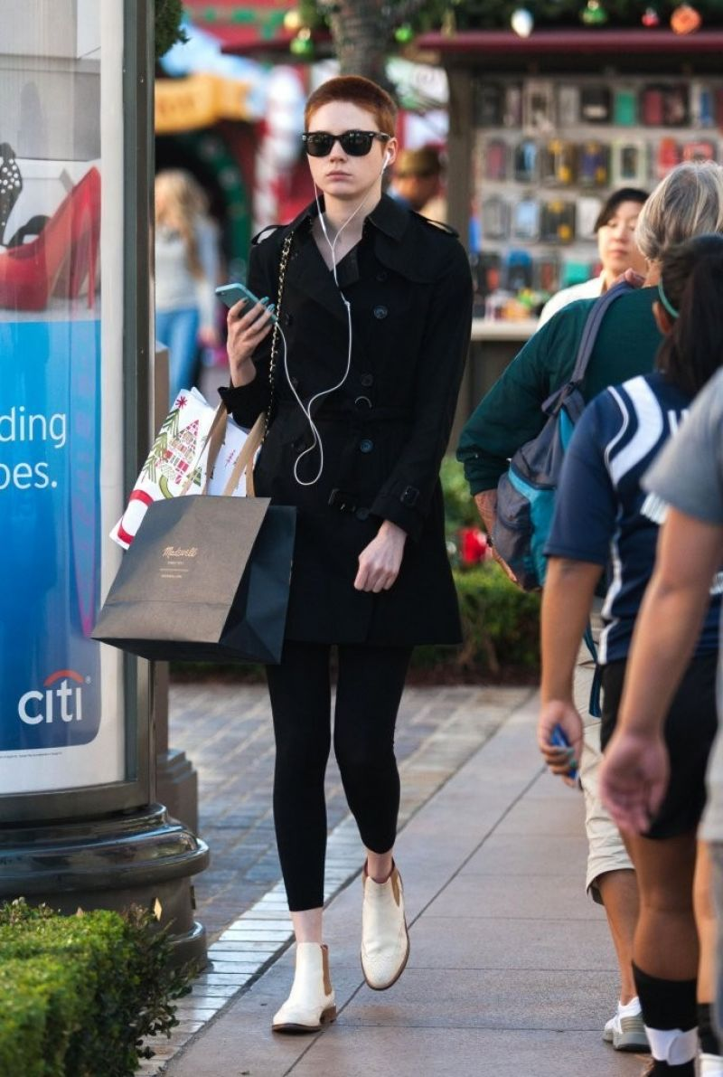karen gillan street style out in los angeles november 2013