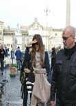 Kate Beckinsale On Set of THE FACE OF AN ANGEL Movie in Rome