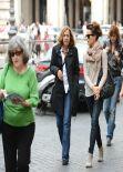 Kate Beckinsale Street Style - in Rome - November 2013