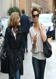 Kate Beckinsale Street Style - in Rome - November 2013