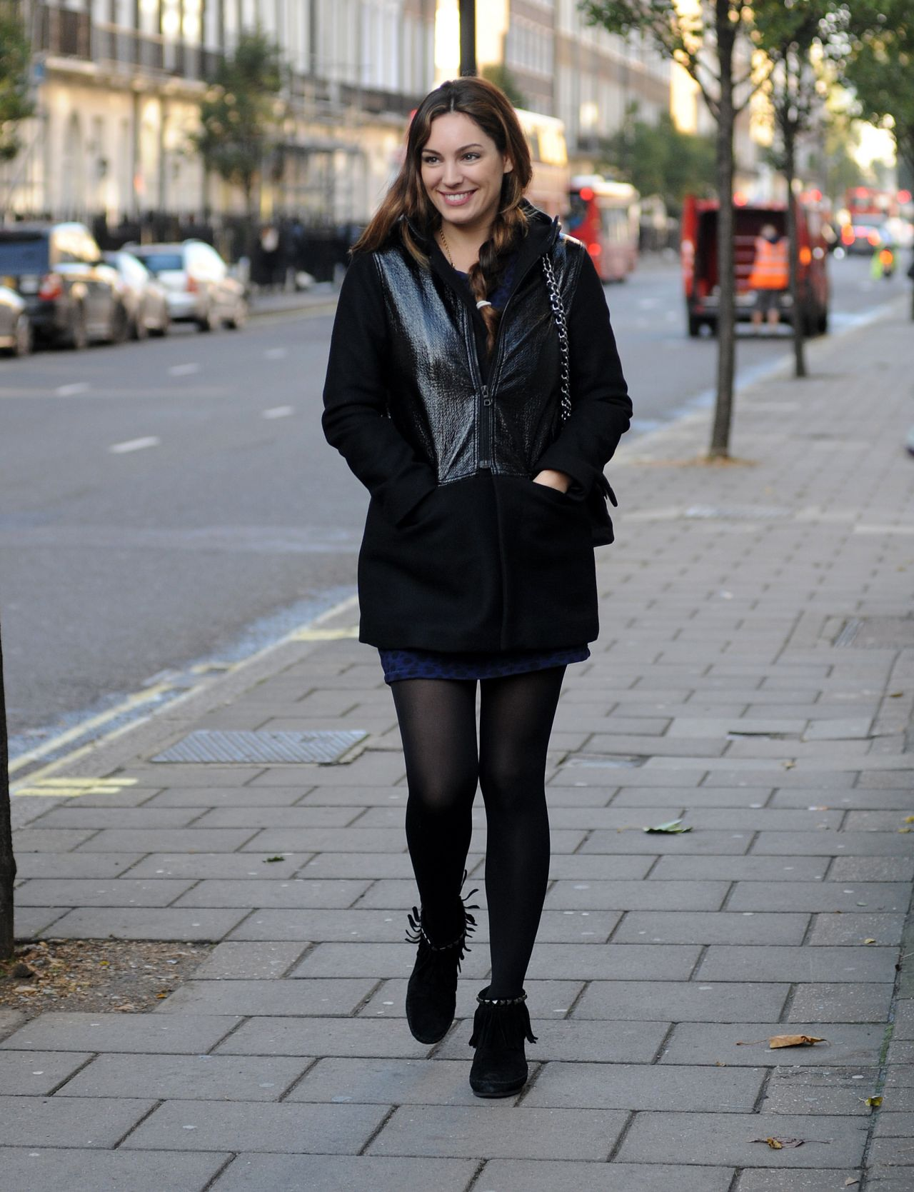 Kelly Brook Street Style - Out in London - November 2013