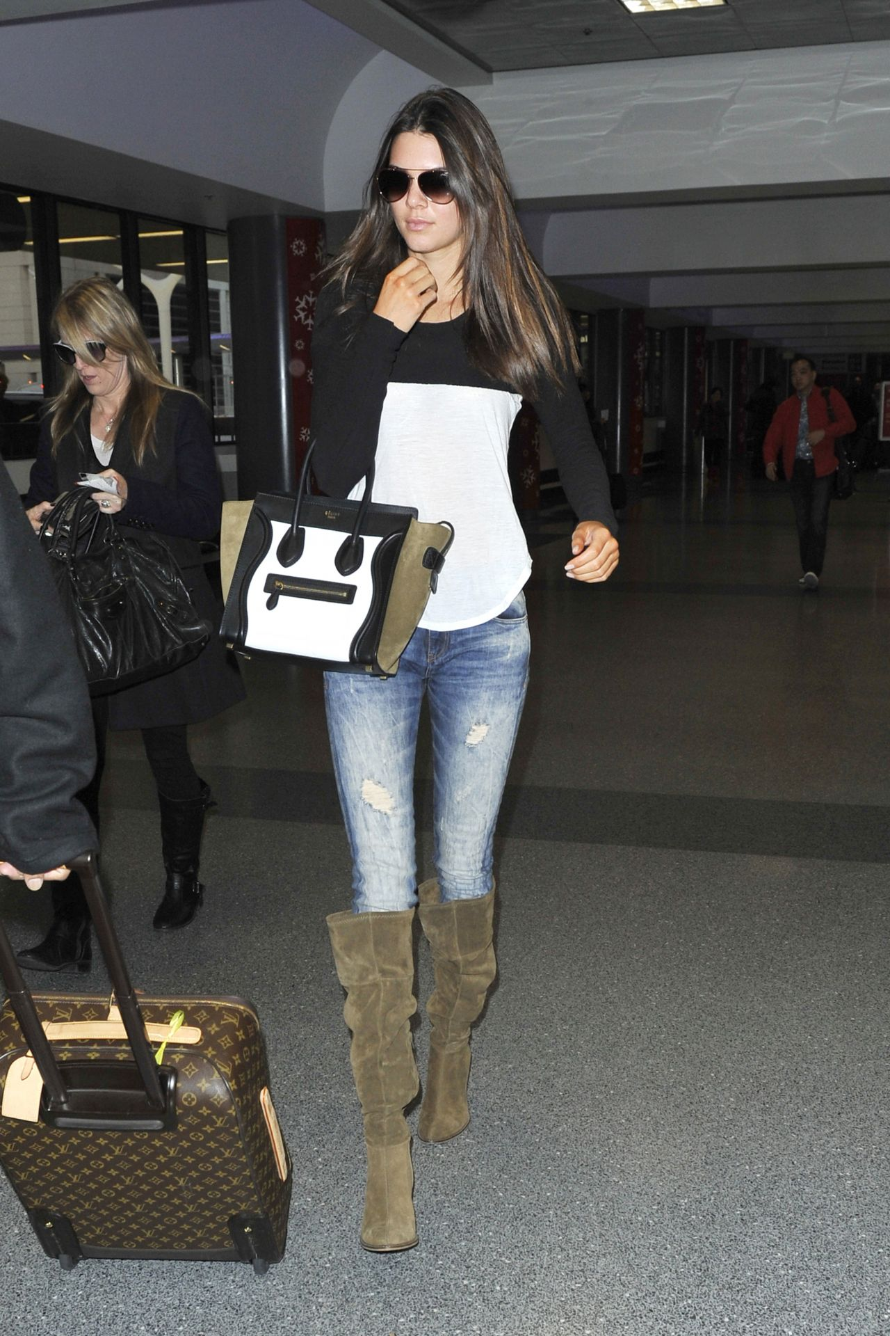 Kendall Jenner in Jeans at LAX Airport - November 2013