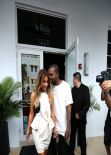 Kim Kardashian Street Style - Shopping in Miami - November 2013