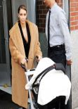 Kim Kardashian Street Style - Takes Baby Haven For A Stroll - Out in New York City