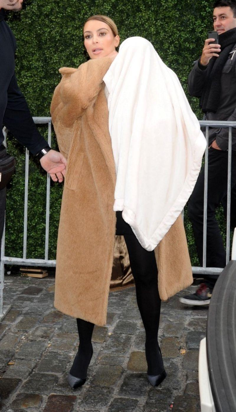 Kim Kardashian Street Style Takes Baby For A Stroll