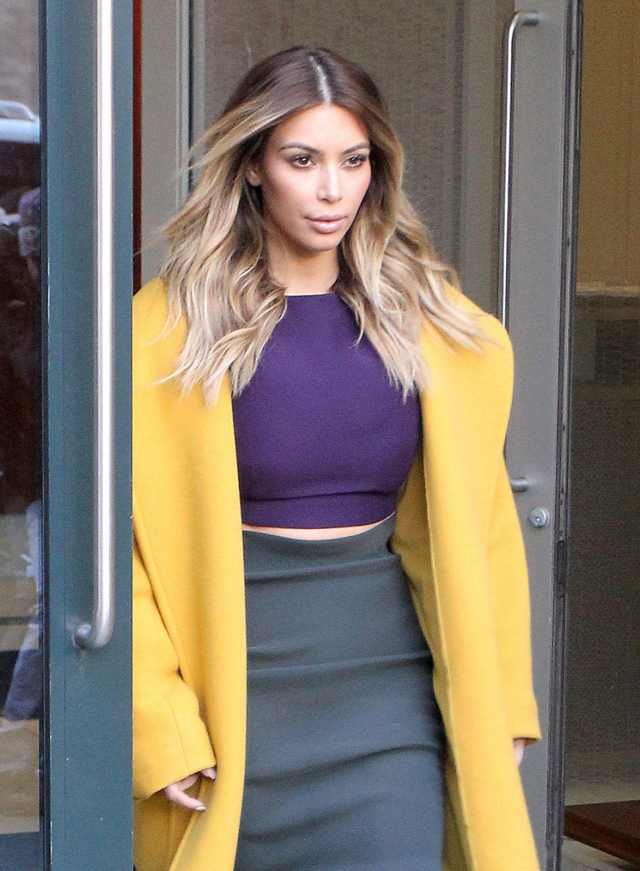 Kim Kardashian Style - Leaving Kanye