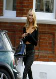Kimberley Garner Looks Cute in Black - Street Style - Chelsea, London