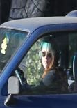 Kristen Stewart Driving in Los Angeles