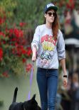 Kristen Stewart Out With Her Dog in Los Angeles - November 2013