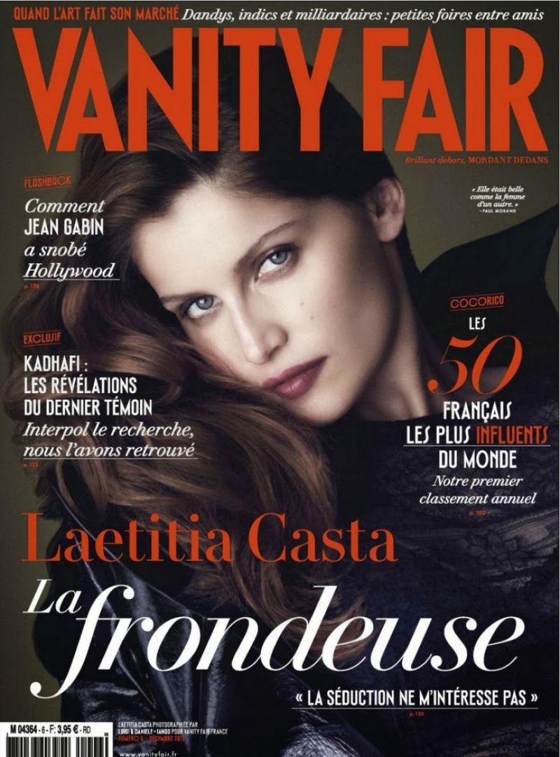 Laetitia Casta - VANITY FAIR Magazine  (France) - December 2013 Issue