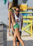 Laura Cremaschi Hot Photos - Exercising in Miami Beach - November 2013