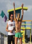 Laura Cremaschi Hot Photos - Exercising in Miami Beach - November 2013