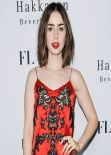 Lily Collins Red Carpet Photos - FLAUNT Magazine Issue Party in Beverly Hills