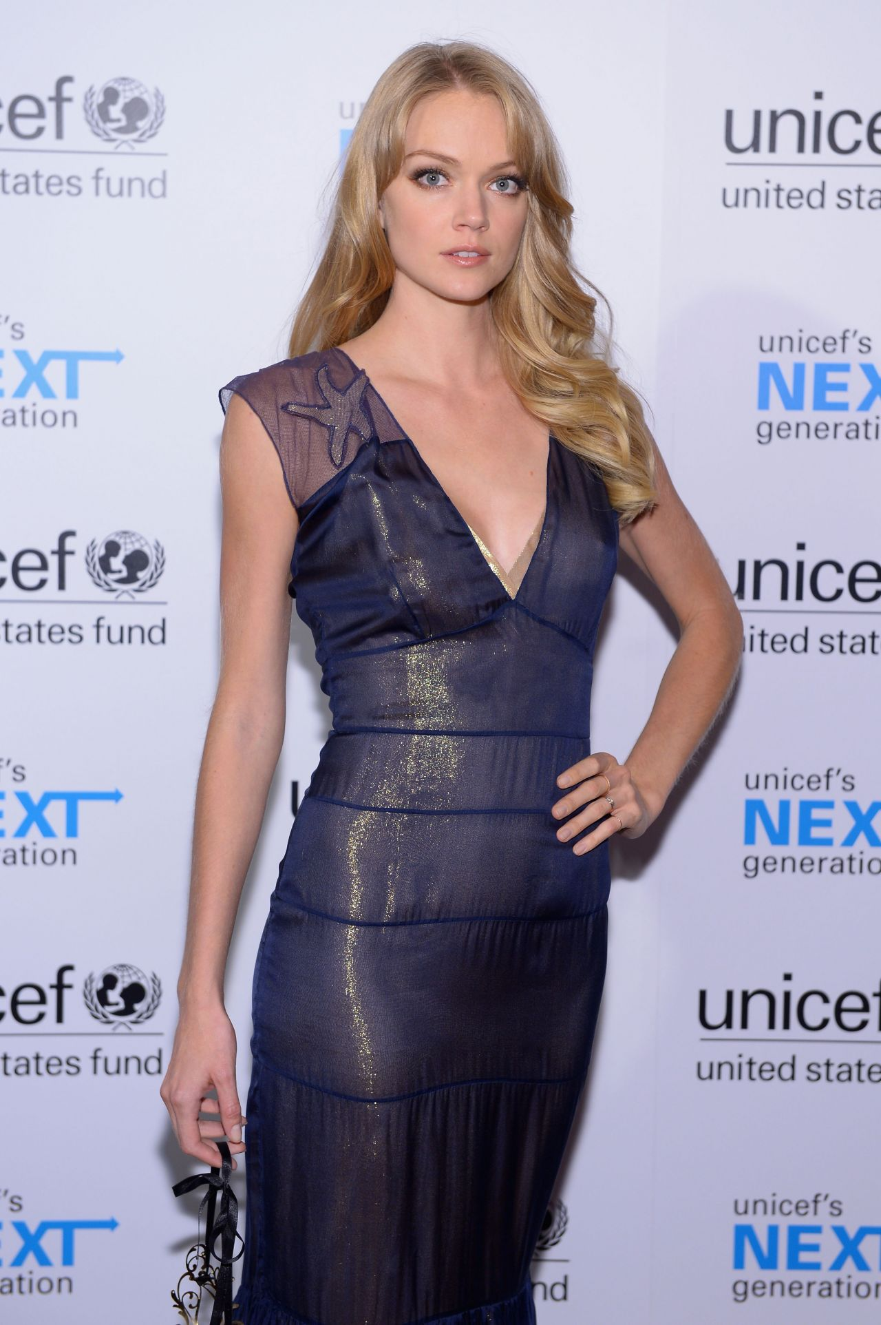 Lindsay Ellingson at the 1st Annual UNICEF Masquerade Ball in Hollywood