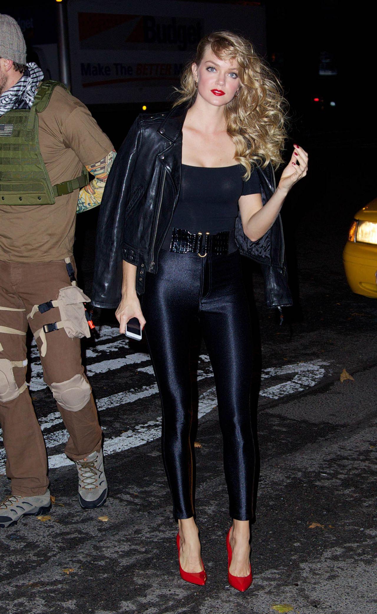Lindsay Ellingson in Tight Pants - Heidi Klum's Halloween Party in ...