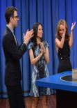 Lucy Liu at Late Night with Jimmy Fallon in New York City