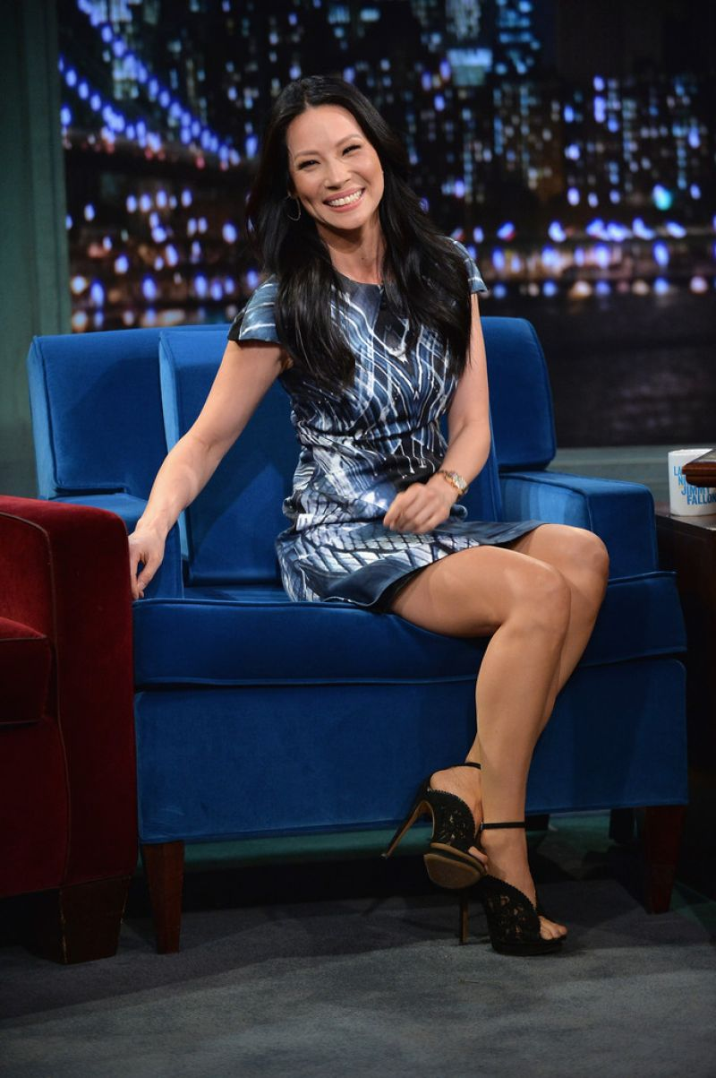 Post Malone 2019 >> Lucy Liu at Late Night with Jimmy Fallon in New York City
