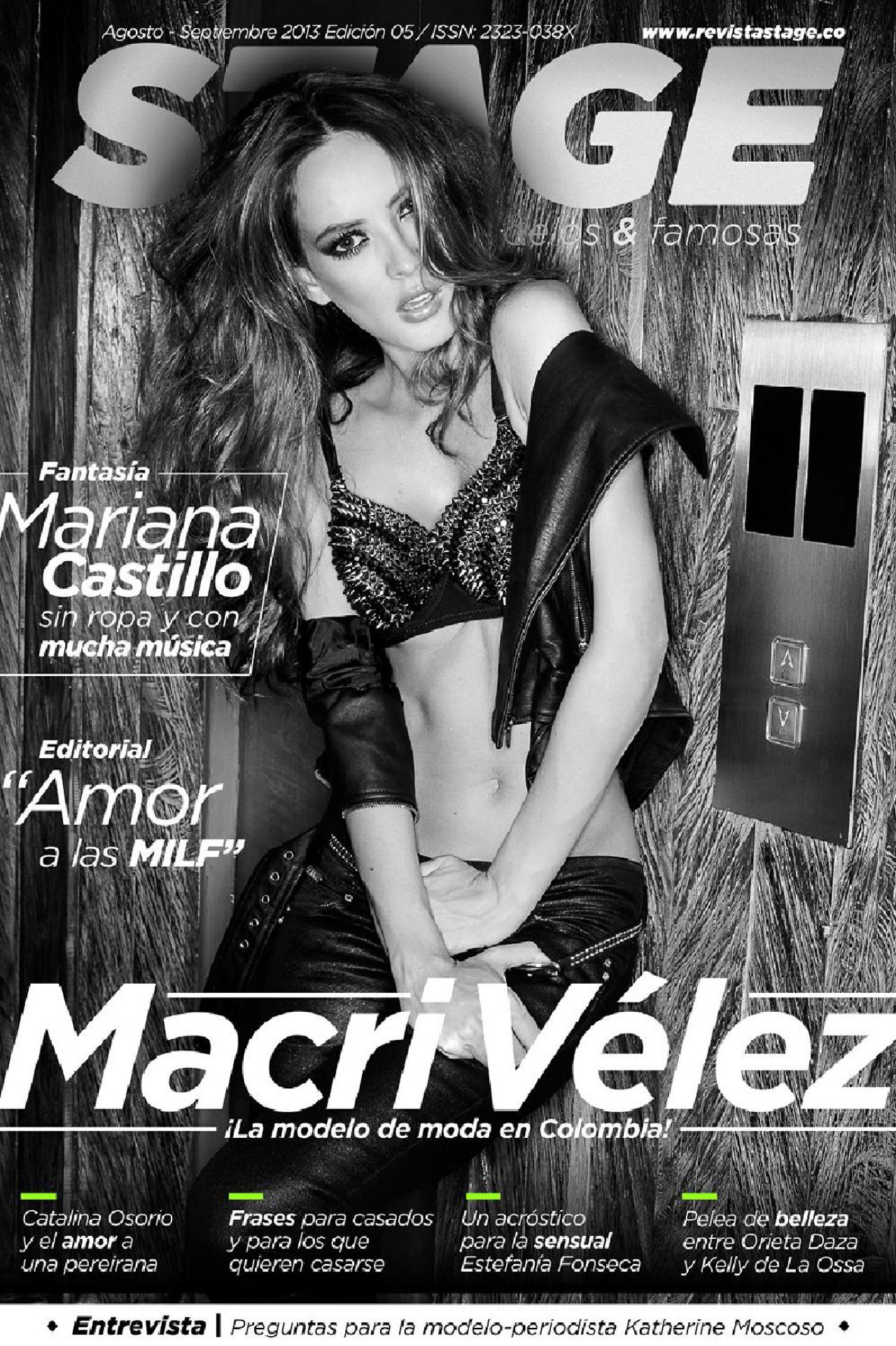 Macri Elena Vélez Sánchez - Revista STAGE (Colombia) - August/September 2013 Issue