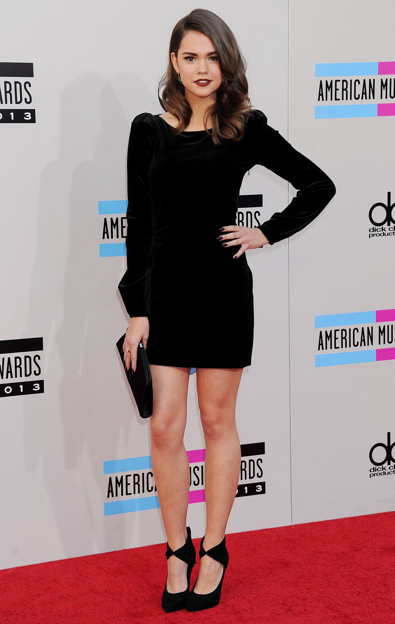 Maia Mitchell Attends 2013 American Music Awards in Los Angeles