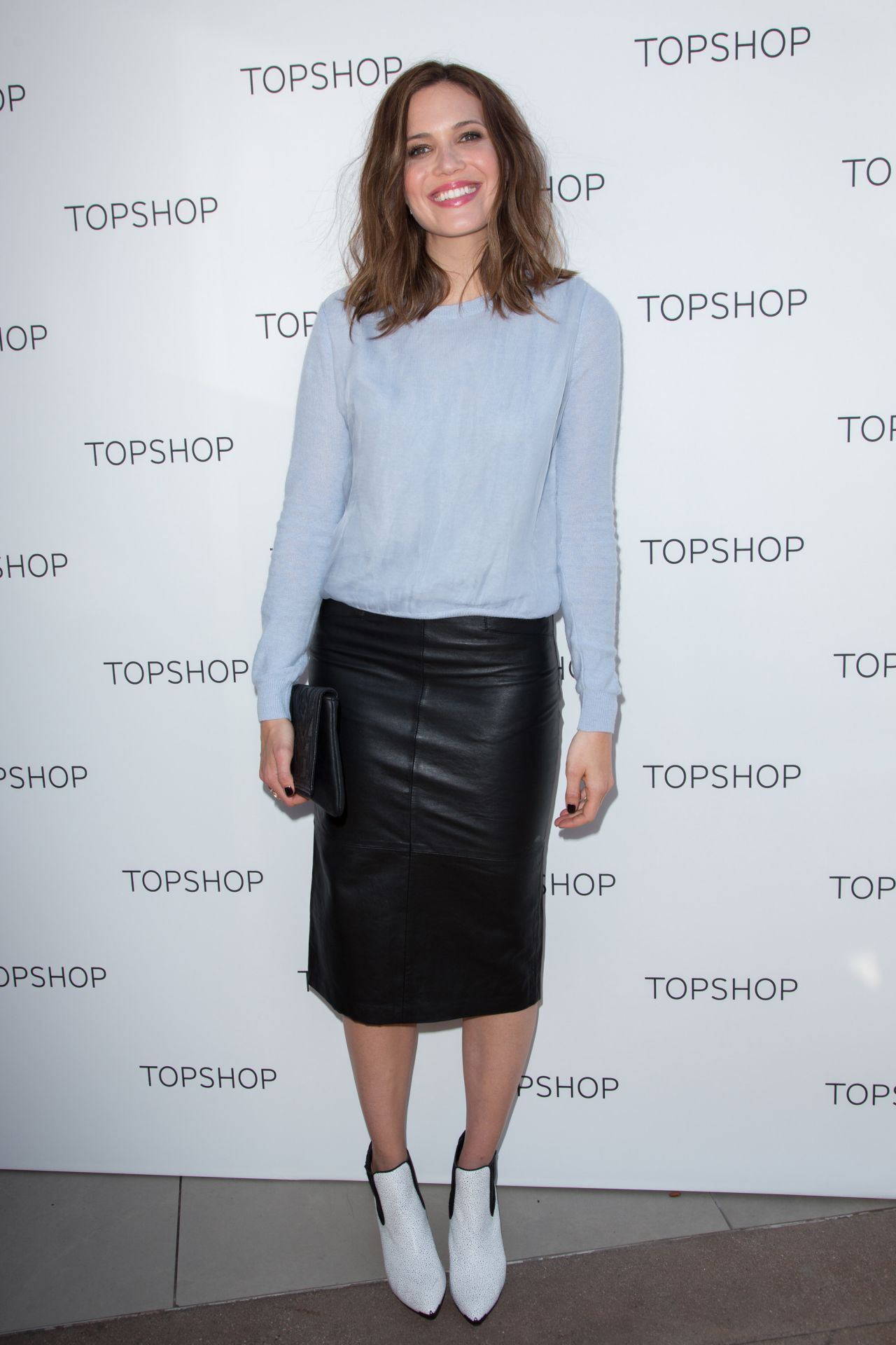 Mandy Moore at Topshop Holiday Event in Los Angeles
