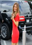 Maria Menounos - On the set of Extra in Los Angeles - November 2013