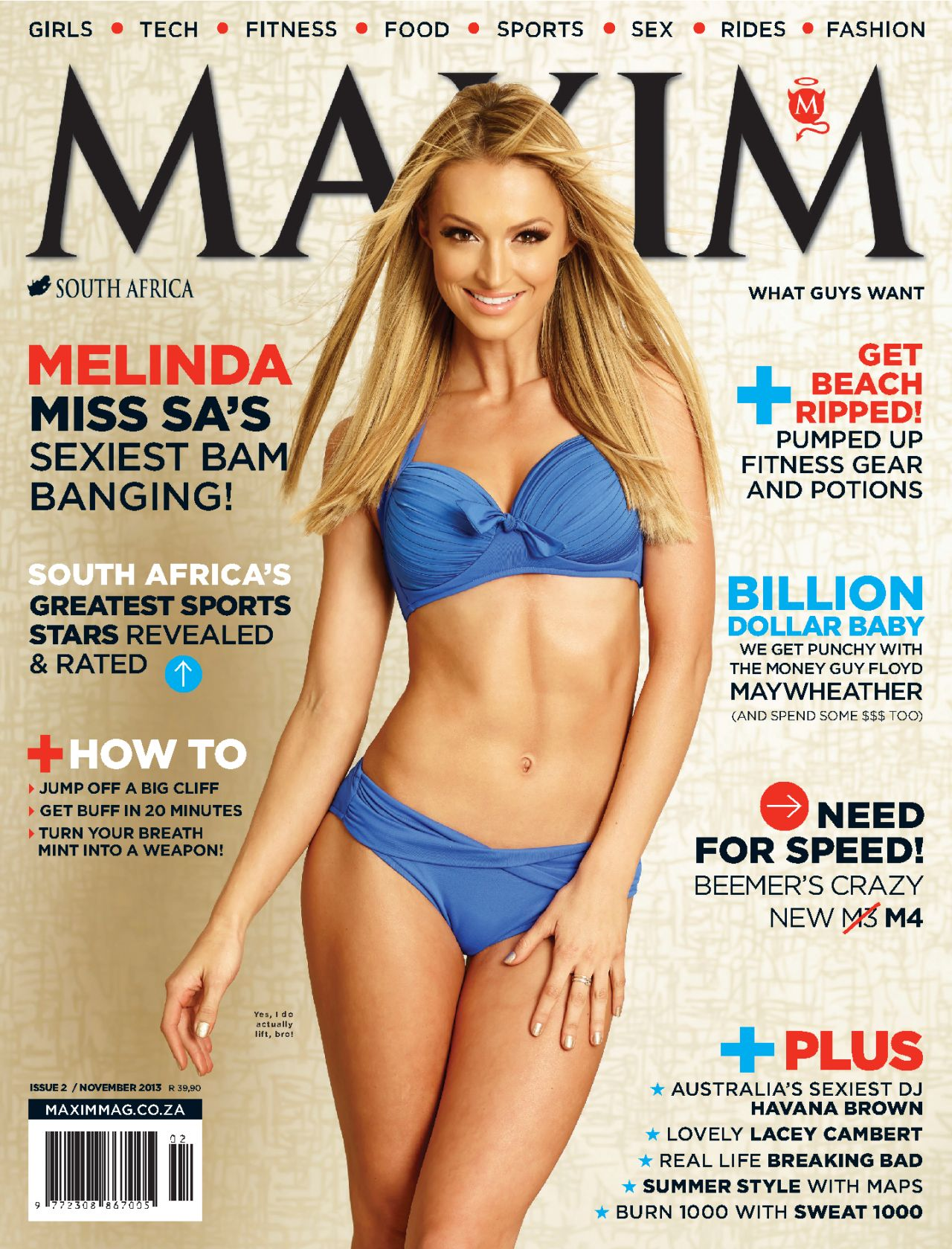 Melinda Bam - MAXIM Magazine (South Africa) - November 2013 Issue