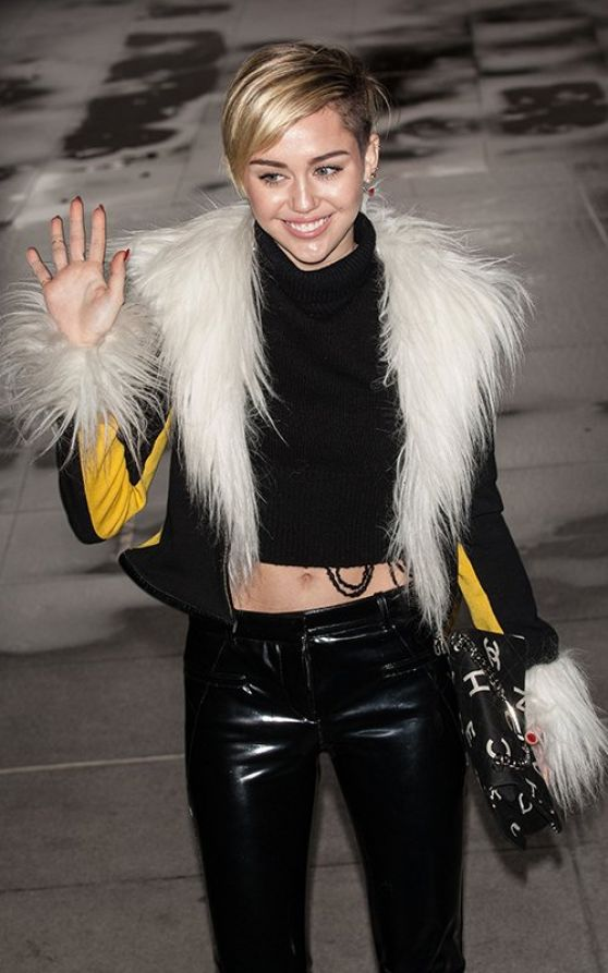 Miley Cyrus at BBC Radio 1 Studios in London