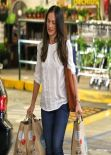 Minka Kelly Street Style - Shopping at Whole Foods in Beverly Hills