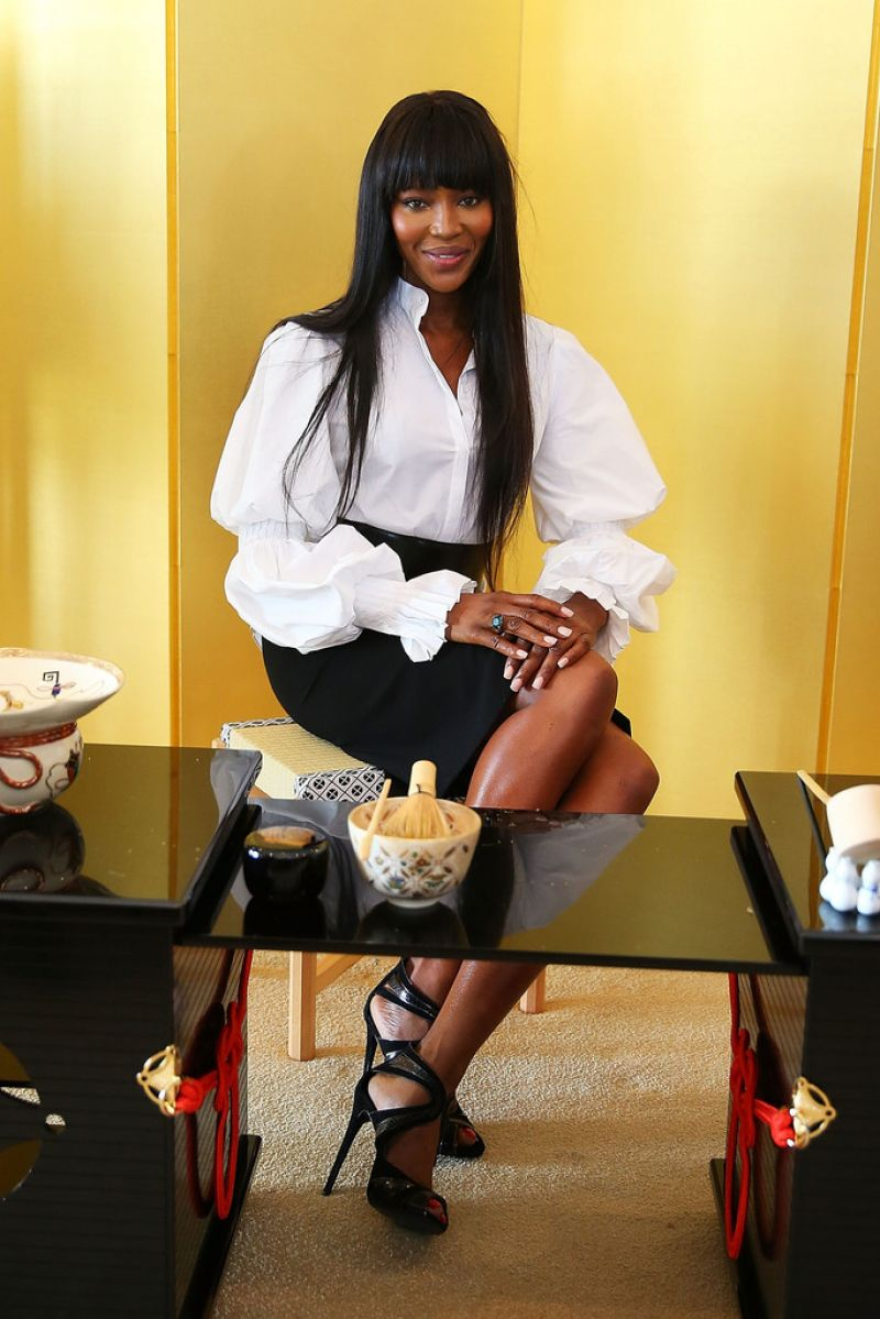 Naomi Campbell At Japanese Tea Ceremony In Sydney