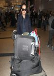Natalie Portman at LAX Airport - November 2013