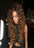 Nicole Scherzinger - Night out at The Cuckoo Club London