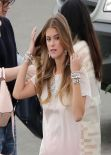Nina Agdal in a Bikini - Candids of Accessorize Photoshoot in Los Angeles - November 2013
