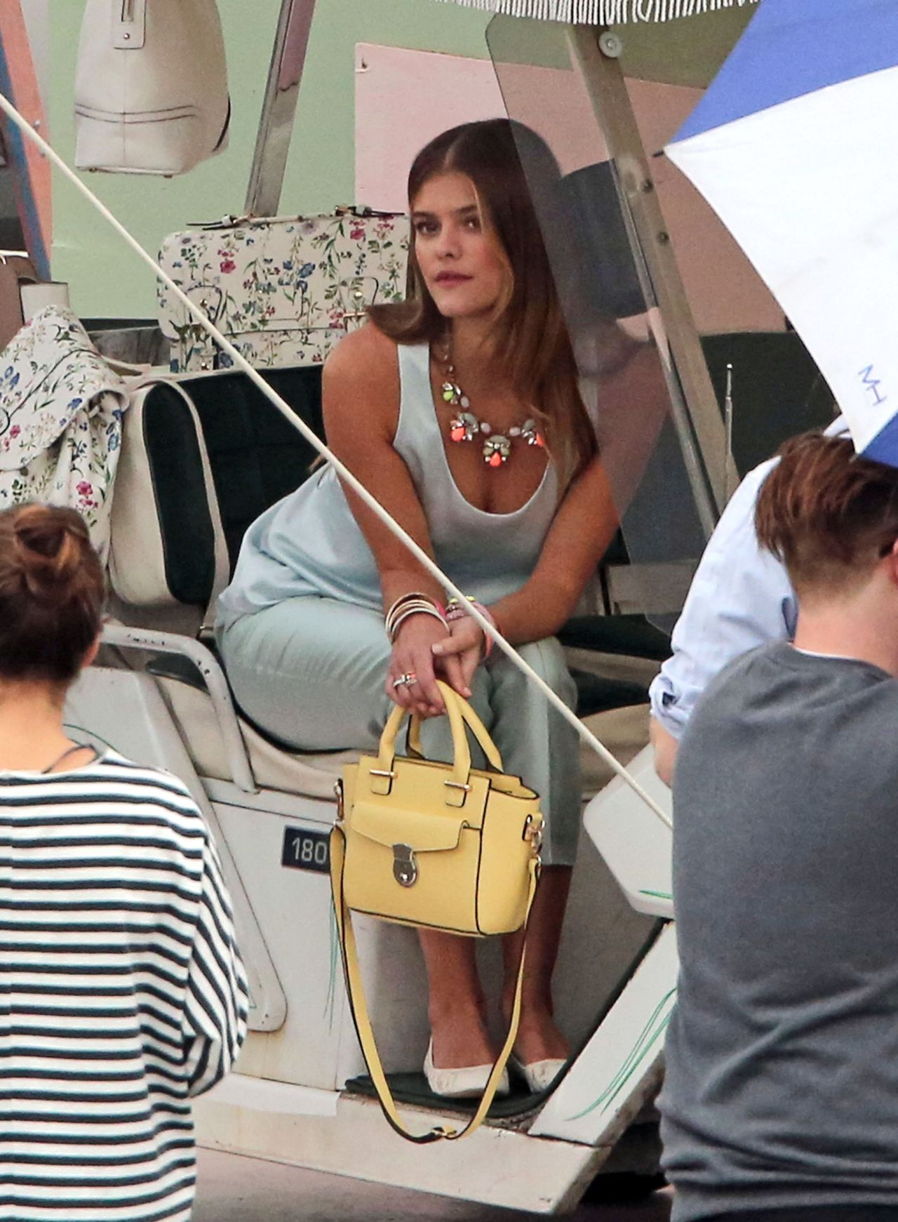 nina agdal in a bikini   candids of accessorize photoshoot