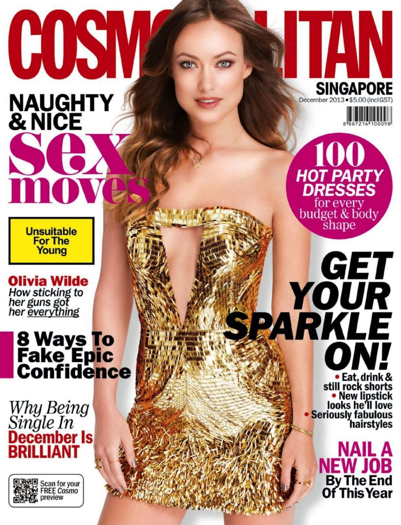 Olivia Wilde - COSMOPOLITAN Magazine (Singapore) - December 2013 Issue
