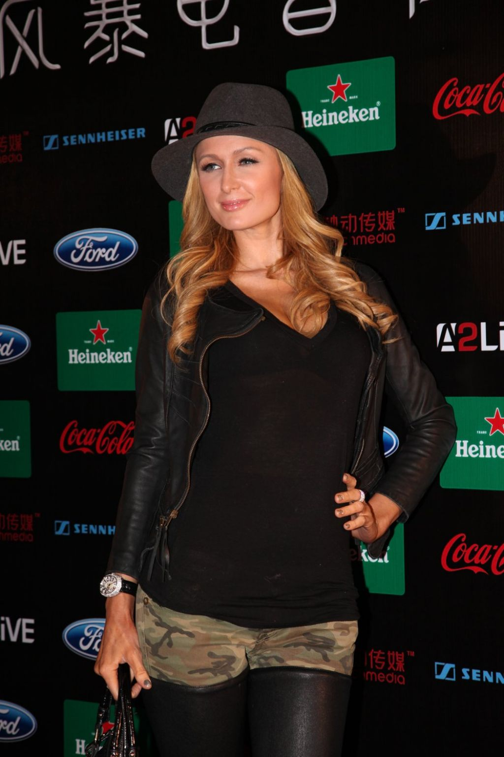 Paris Hilton at Storm Electronic Music Festival