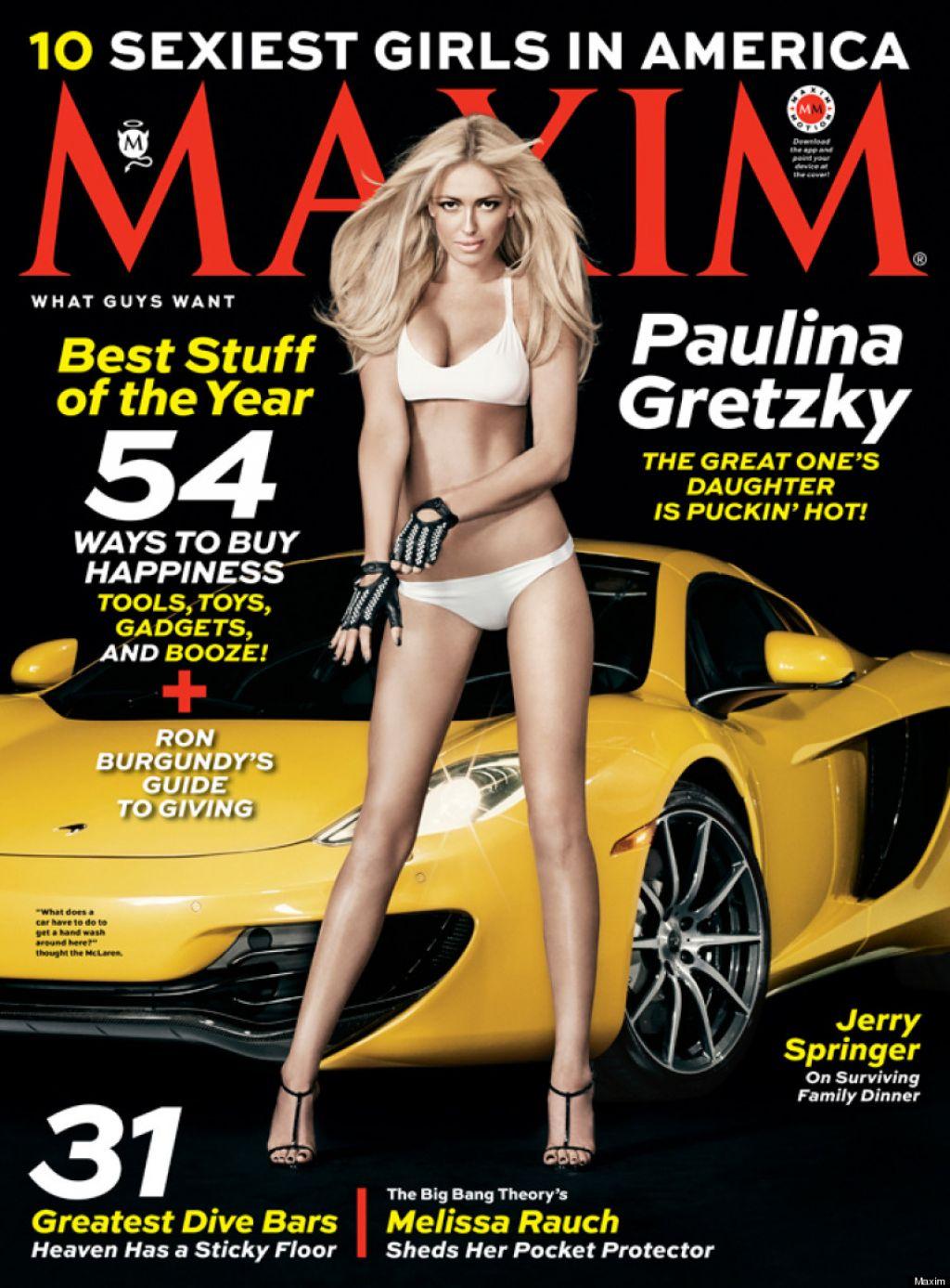 Paulina Gretzky Cover Girld - MAXIM Magazine - December 2013 Issue