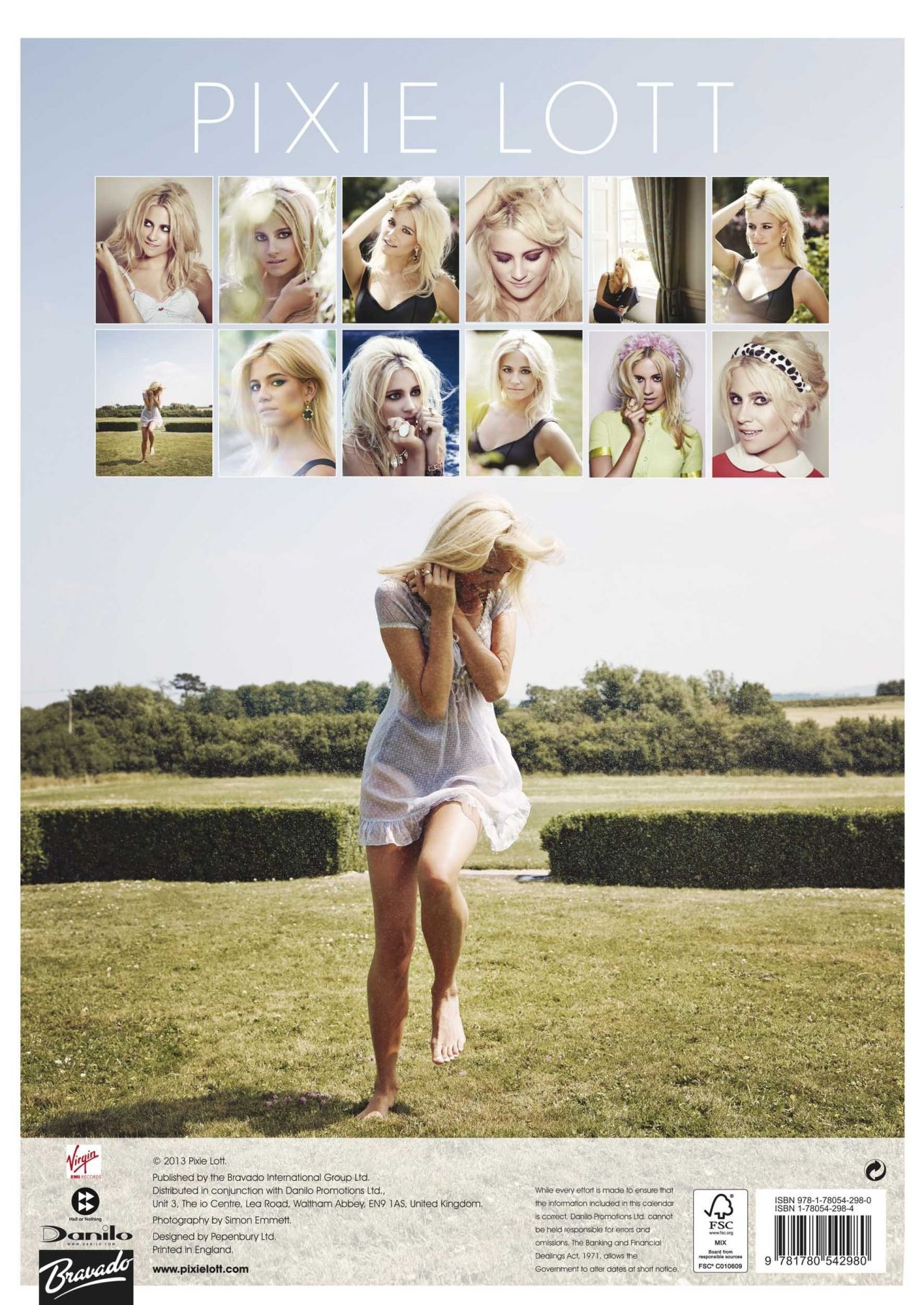 Pixie Lott - Official 2014 Calendar