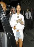 Rihanna Street Style - Out in Los Angeles - November 2013