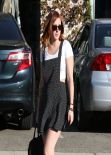Rumer Willis Street Style - Leaving a Hair Salon in West Hollywood