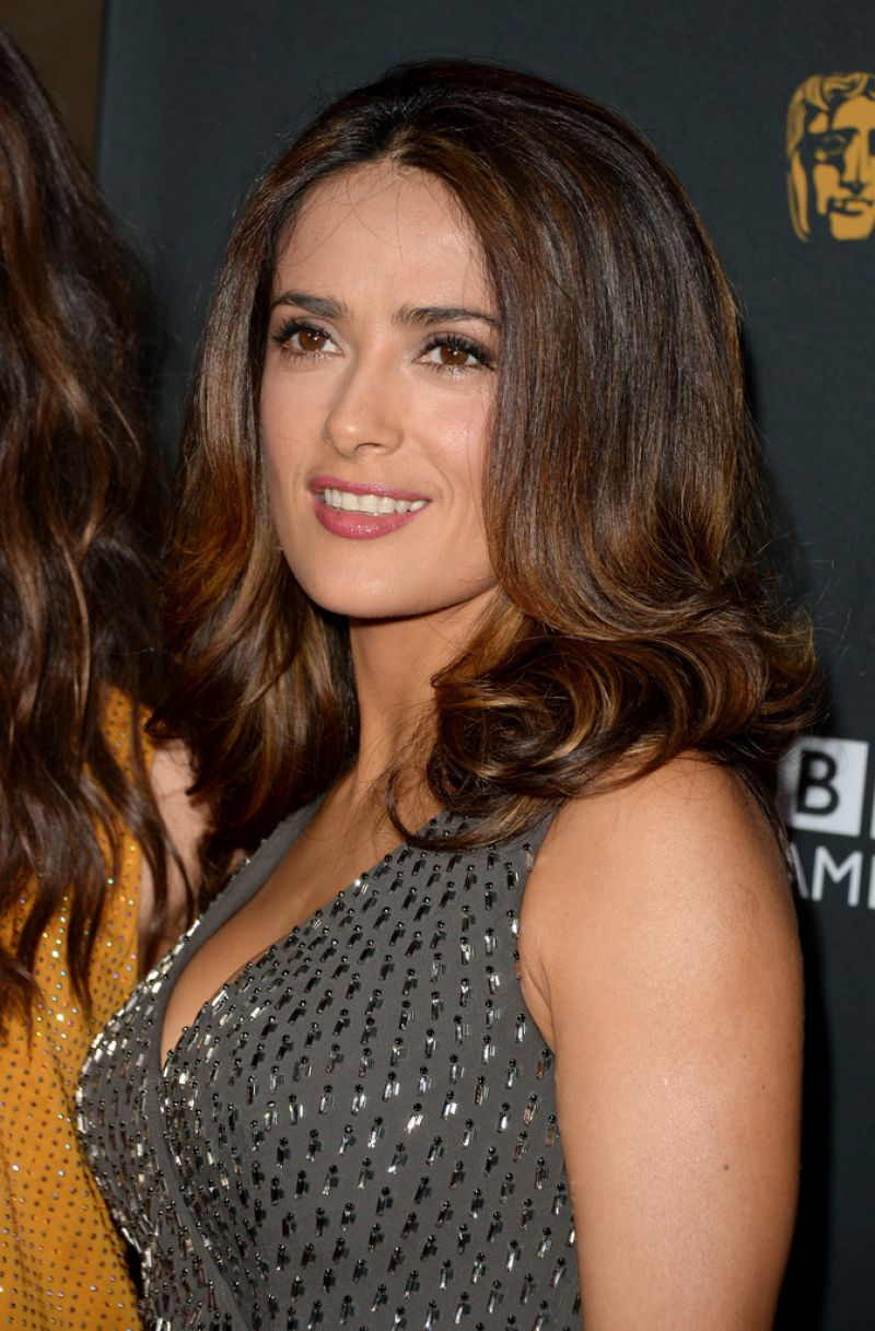 Salma Hayek on Red Carpet - 2013 BAFTA LA Jaguar Britannia Awards